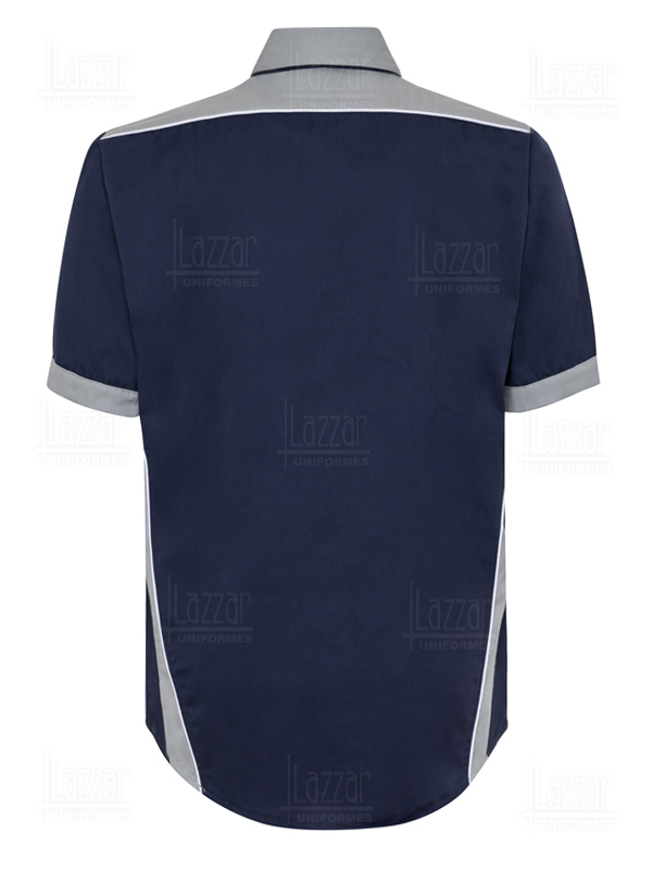 Navy blue industrial shirts