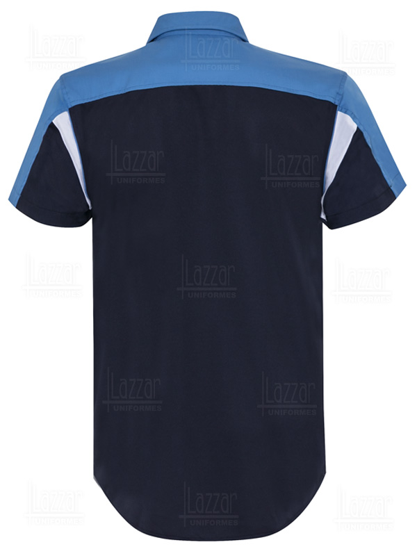 Men's navy blue formula 1 shirt back view