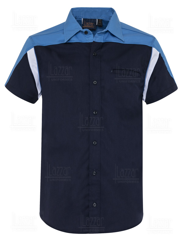 Men's navy blue formula 1 shirt front view