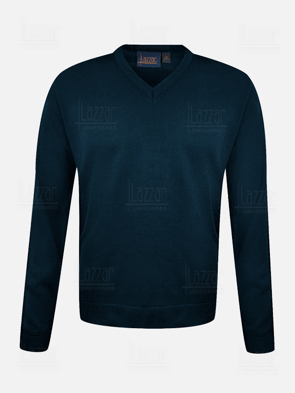 Navy blue V neck sweater for women