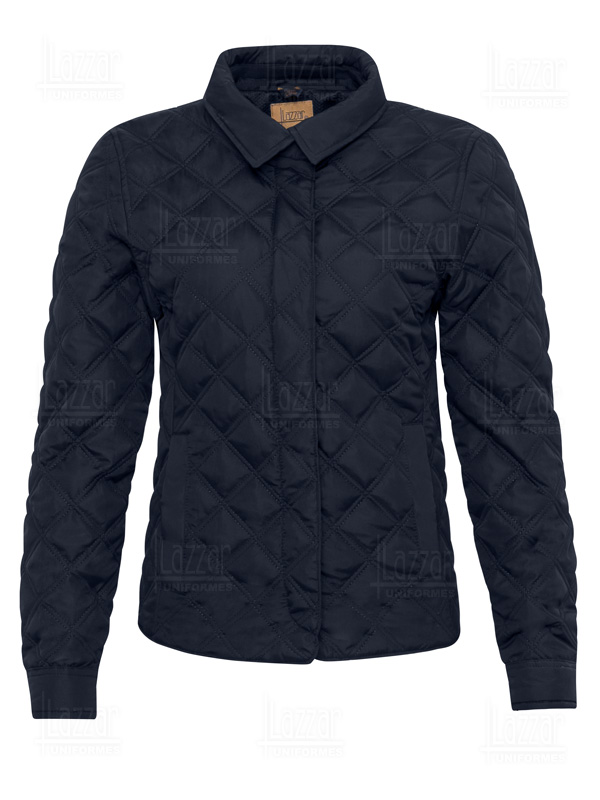 medellin jacket navy blue front view