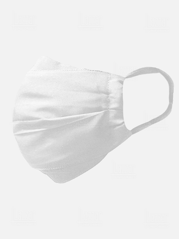 White embroidered cover face masks