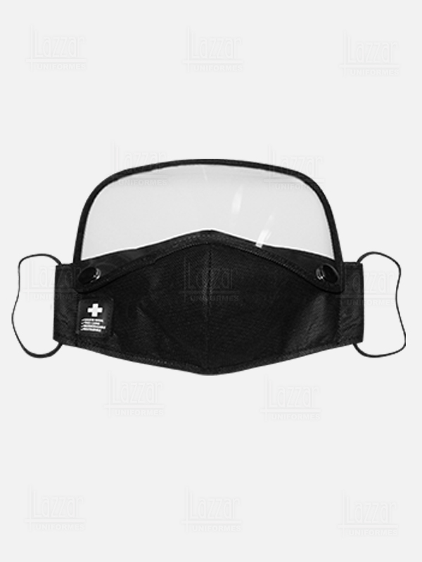 Face shield with triple layer mask