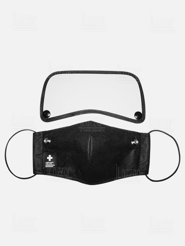 face masks with triple layer mask rear view
