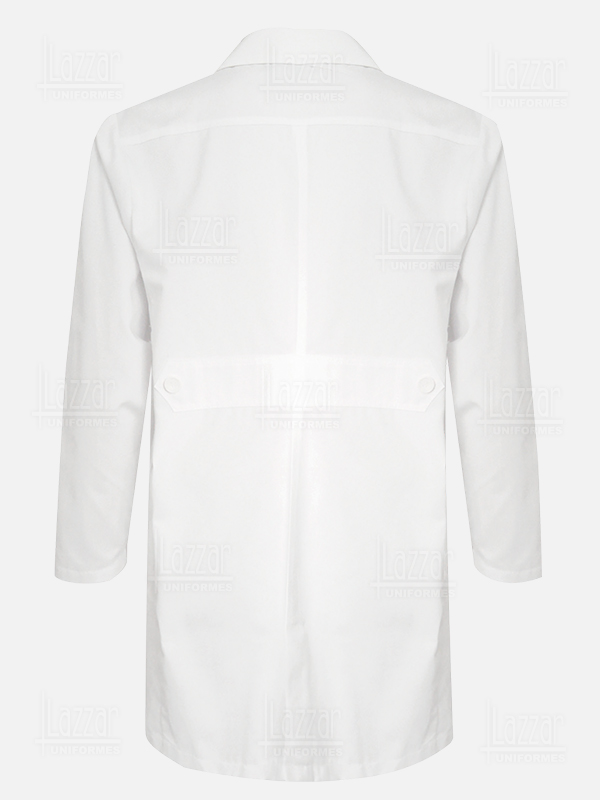 White medical gown for men