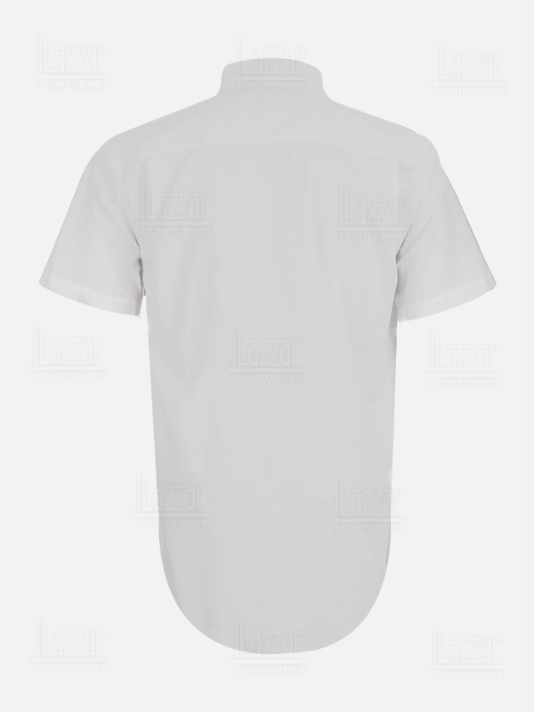 Short sleeve Oxford shirt rear view