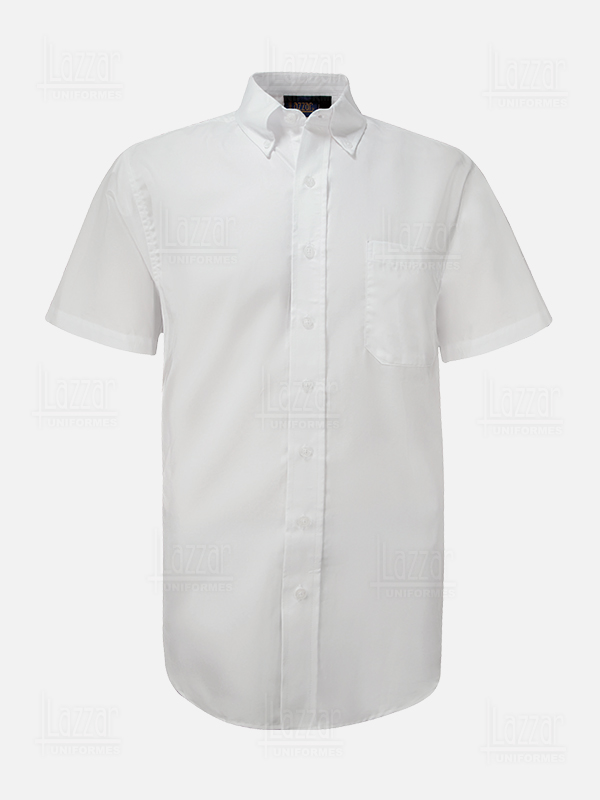 Short sleeve front view oxford shirt