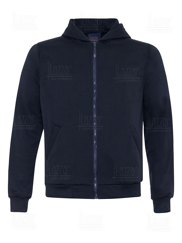 Front view sweatshirt with zipper and cap