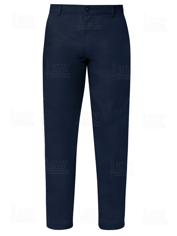 Navy blue work trousers