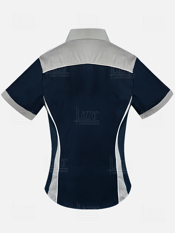 Industrial blouse rear view