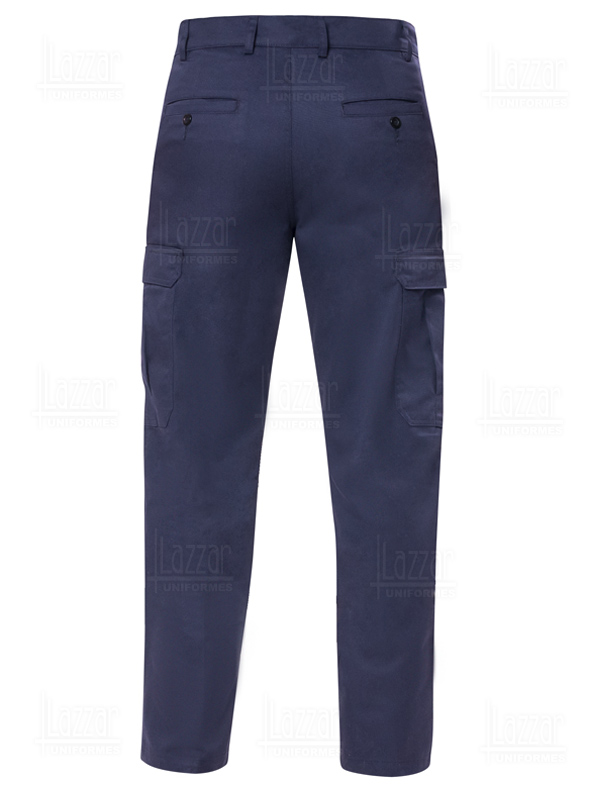 Navy blue cargo Pants rear view