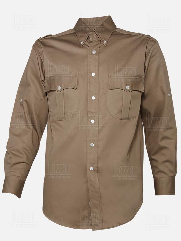 Police shirt khaki color