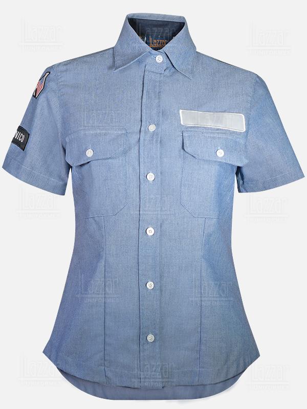 Police shirt sky blue color
