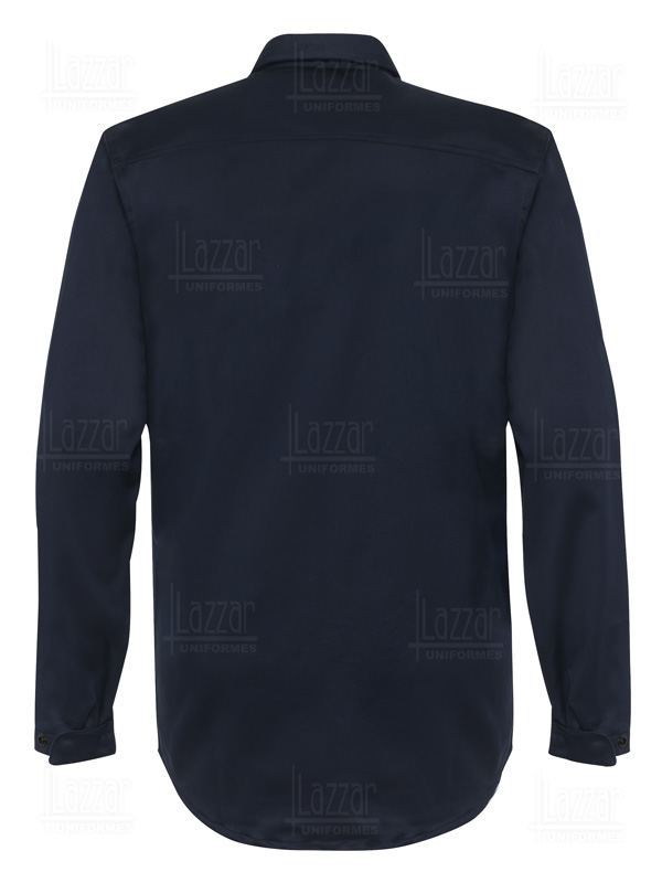Flame retardant shirt rear view