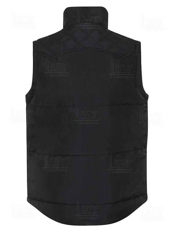 America vest man rear view