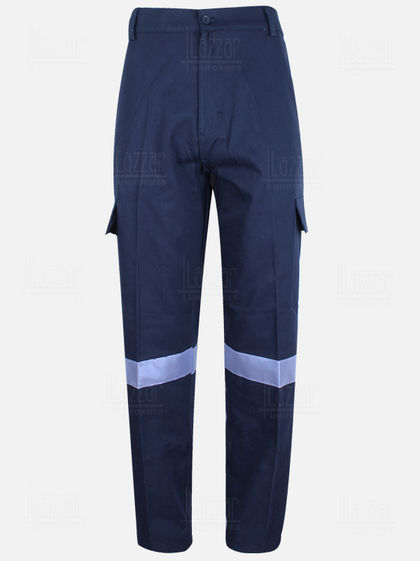Blue navy High visibility trousers front view