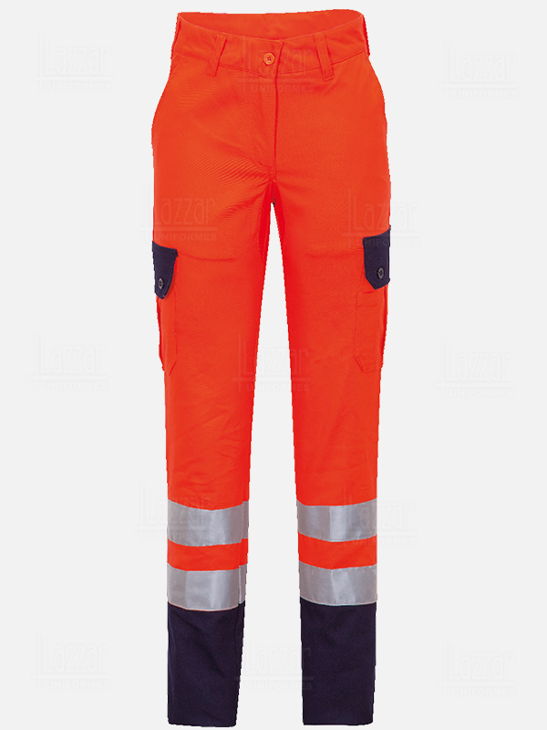 High visibility orange trousers