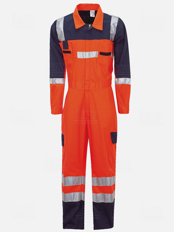 High visibility black coverall