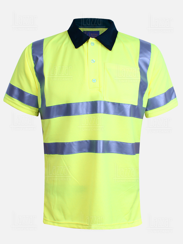 High visibility polo shirt front view